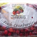 Paradise Meadows cranberries